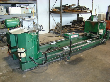 20 , WEGOMA #SD500, 10' cutting length, 2 heads, mitre and compound, 3 HP, 1994