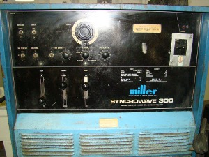 MILLER, No. SYNCROWAVE 300, torches, foot pedal, cart
