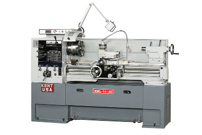 KENT USA RML-1440VT Engine Lathes, 2-1/16 bore, 5 HP, NEW (Taiwan)