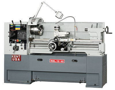 KENT USA RML-1640T Engine Lathes, 2-1/16 bore, 5 HP, NEW (Taiwan)