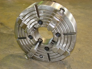 4-JAW CHUCK, IMPORT, 16 diameter, A1-8 MOUNT, 4-3/4 bore, New