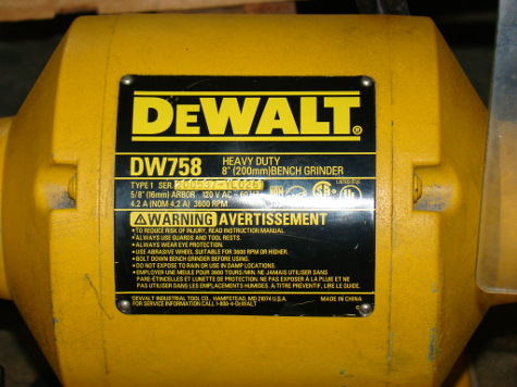 DEWALT, #DW758, 8 wheel, 1 wide, 3/4 HP, 3 phase, 3600 rpm, like new