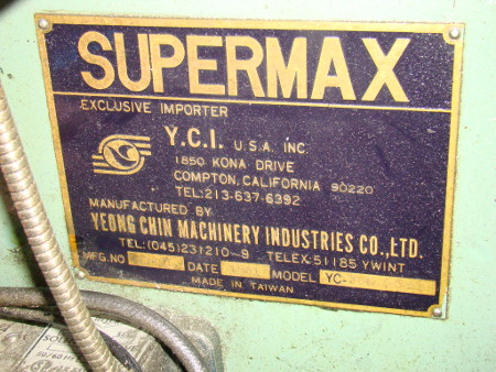 SUPERMAX, #YC-2GS, #40 horz. spindle & turret head, DRO, auto feed, 1981